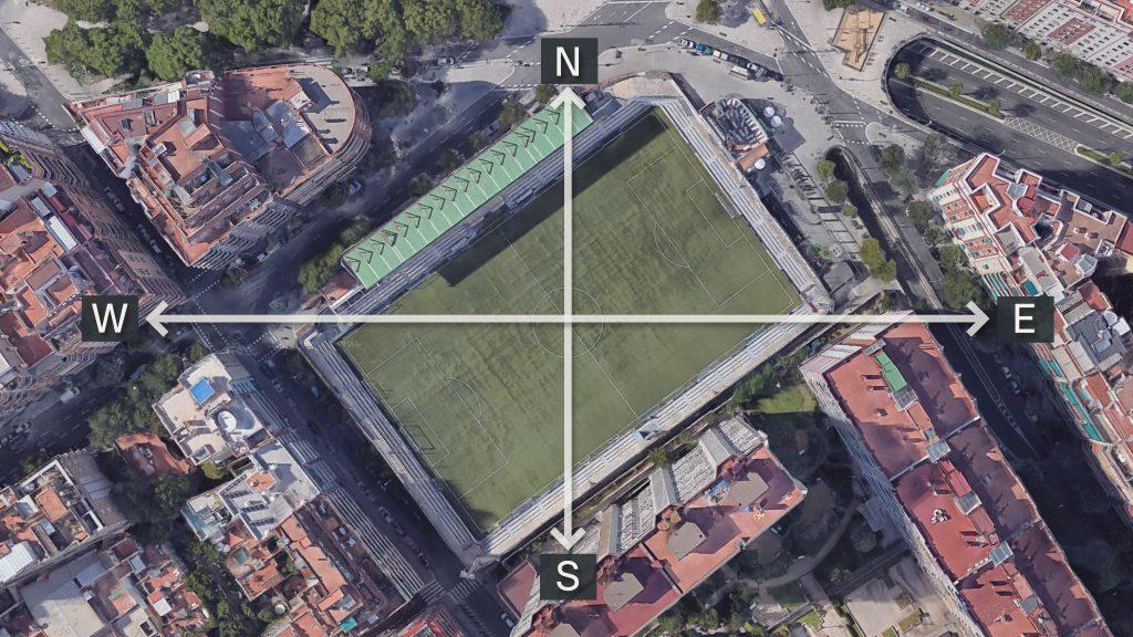 El Nou Sardenya, té la visera al nord-oest