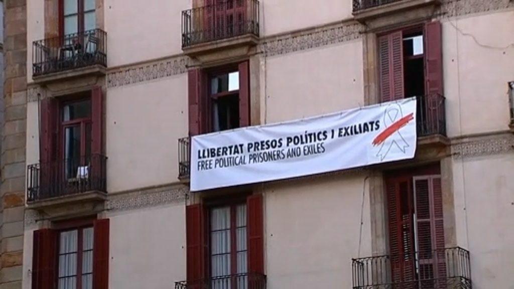 Pancarta presos Sant Jaume