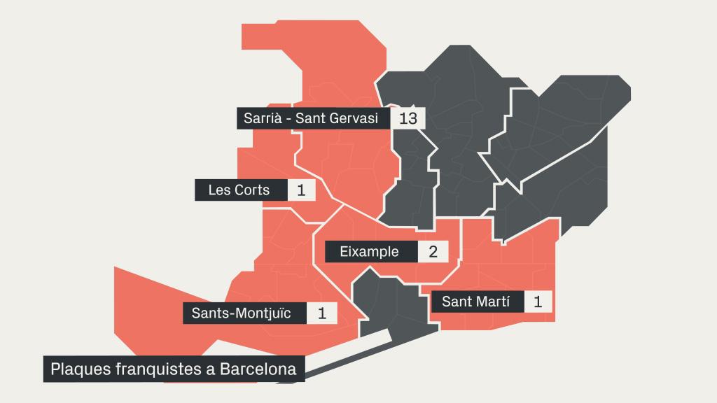 mapa plaques franquistes