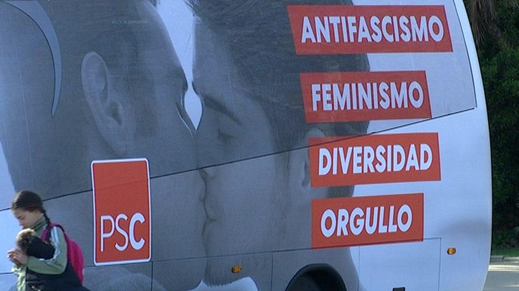 """""""Bus de l'amor"""" del PSC"""