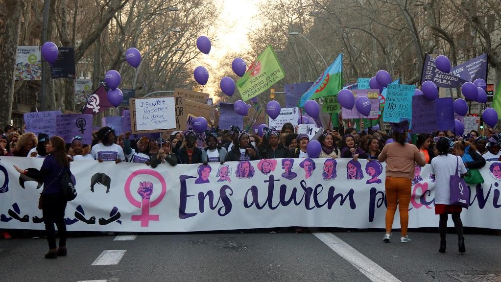 manifestacio 8 març 2020 barcelona