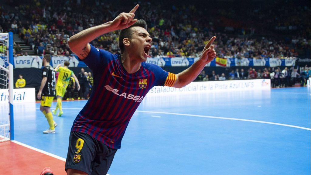 Sergio Lozano celebra gol contra Jaen