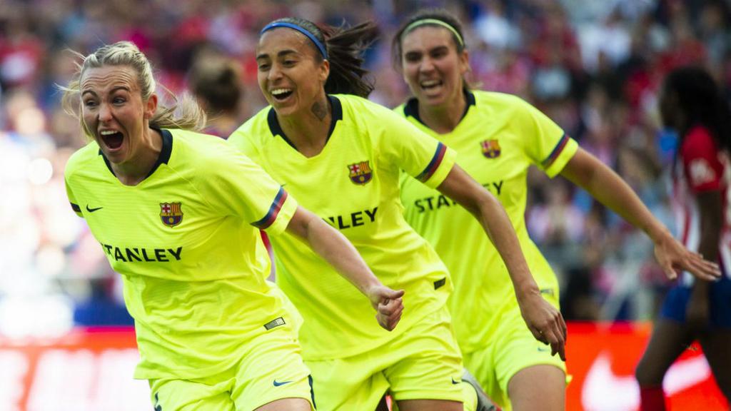 El Barça femení guanya l'Atlético