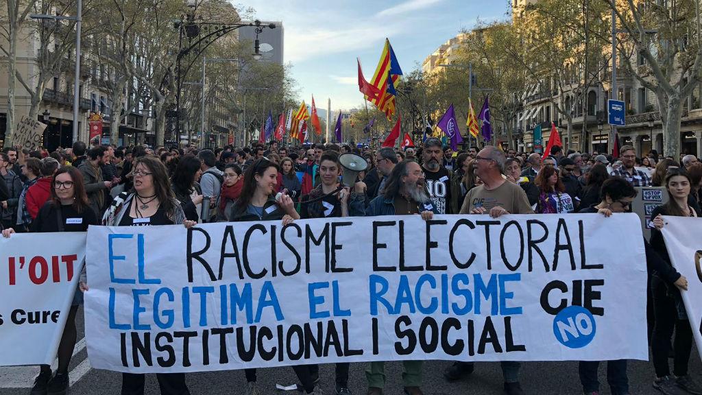 Manifestació contra el feixisme