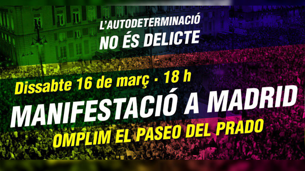manifestació madrid 16 març