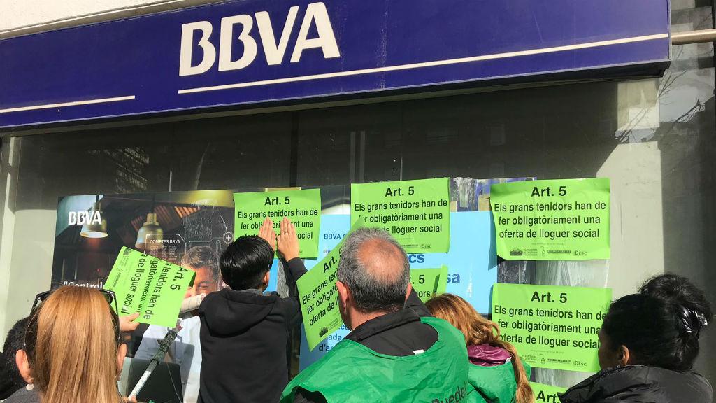 PAH protesta banc BBVA