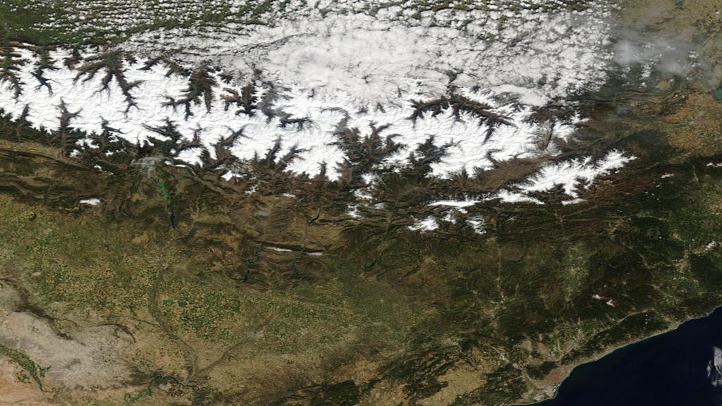 imatge NASA Pirineu