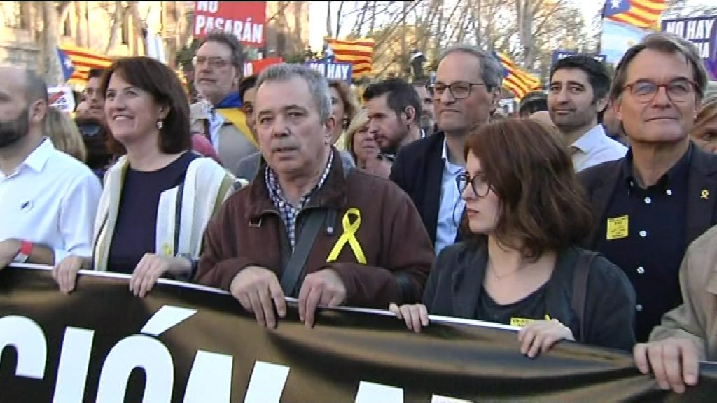polítics a manifestació independentista a madrid