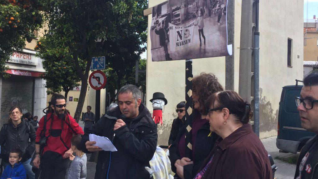Manifestació a Sant Andreu contra l'especulació