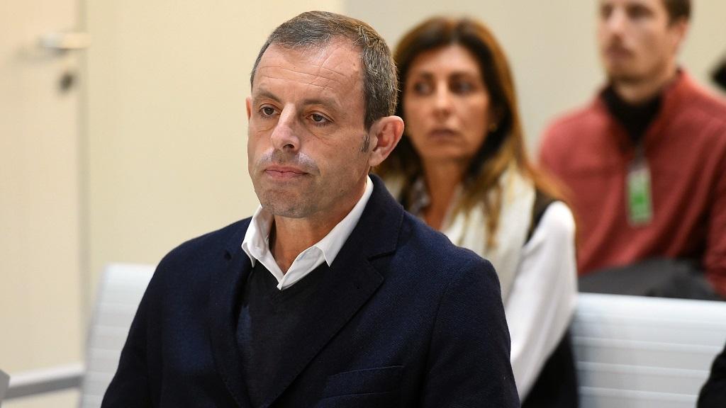 Sandro Rosell durant el judici