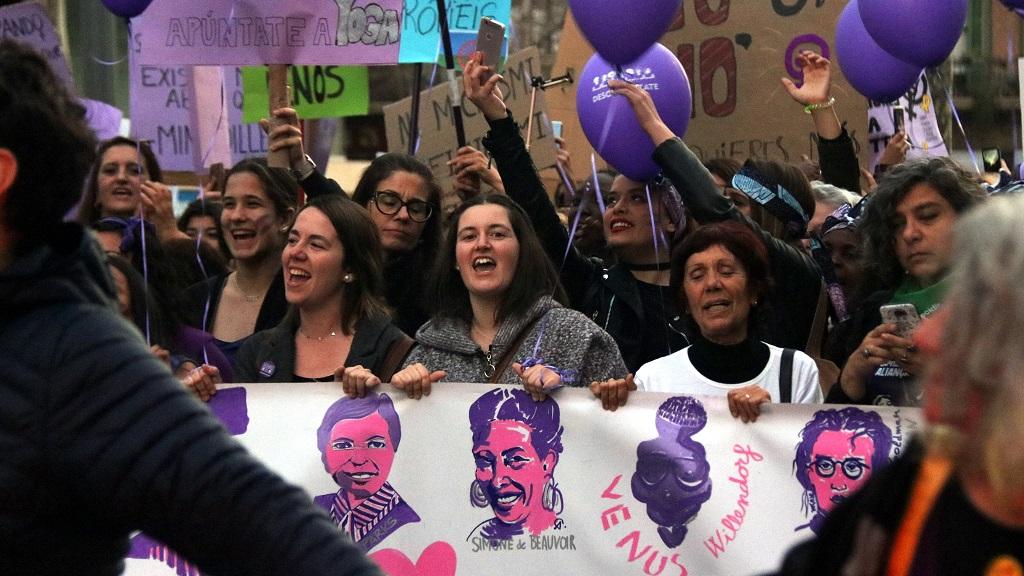 Manifestació feminista 8-M 2019