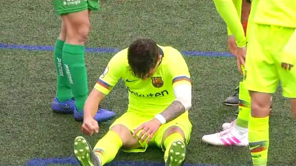 Lesió Monchu del FC Barcelona B
