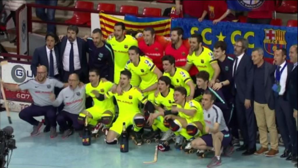 FC Barcelona hoquei patins, campió de Lliga