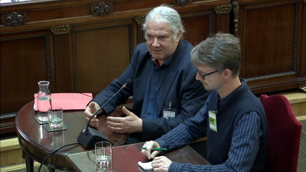El diputat alemany Andrej Hunko al judici del procés
