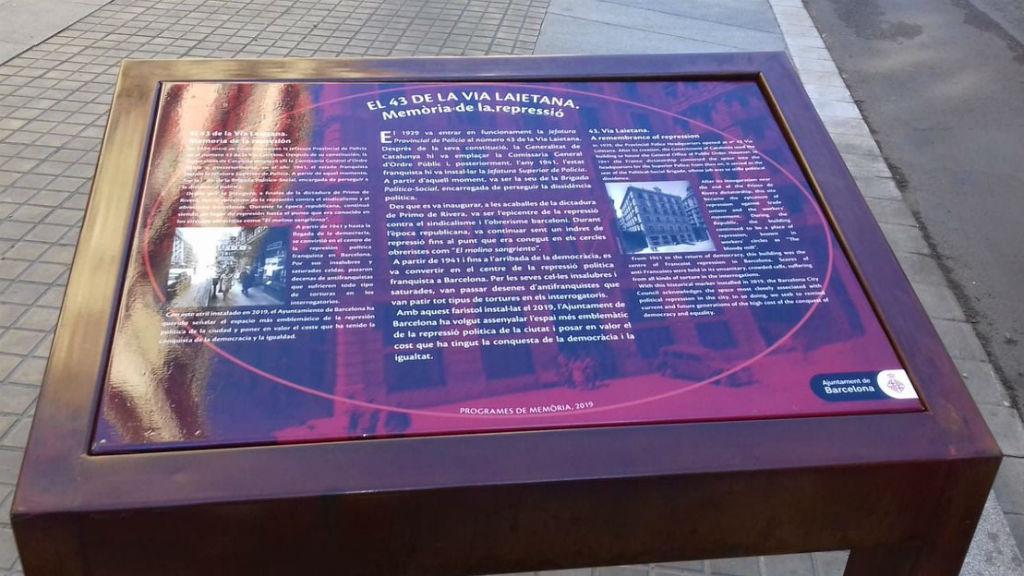 placa Via Laietana record repressió franquista
