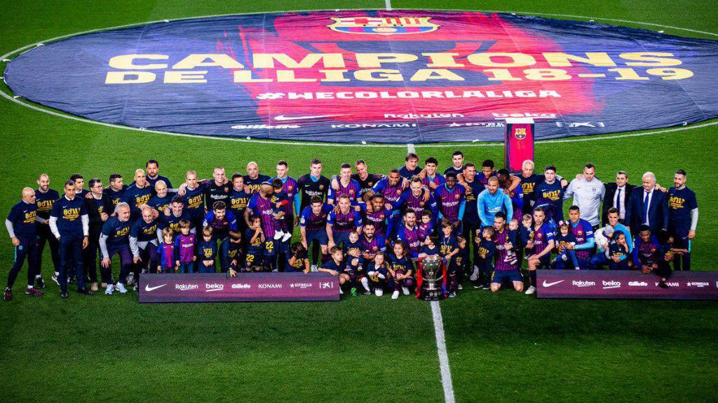 El Barça campió de Lliga
