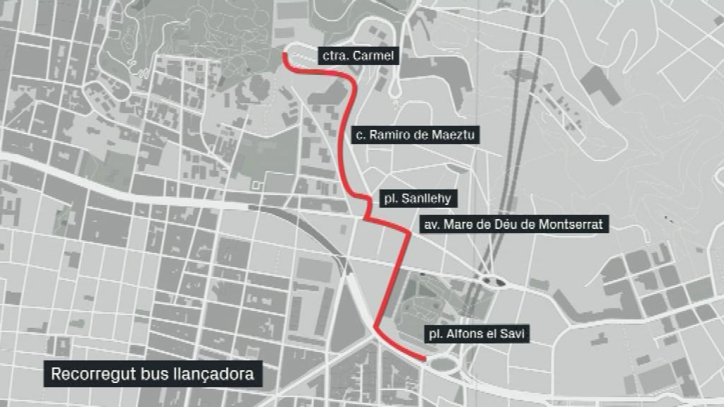 recorregut bus llançadora Parc Güell