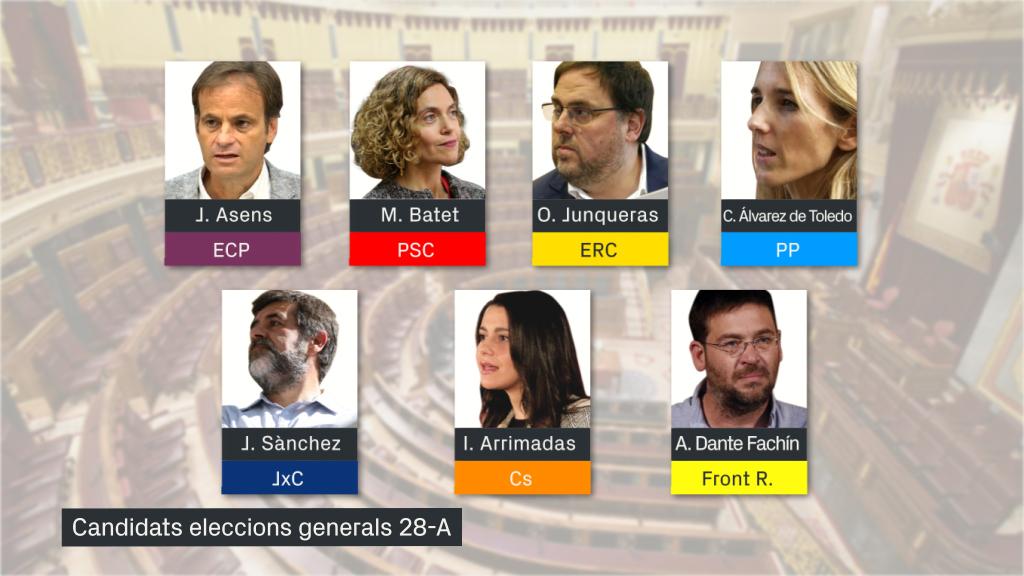 candidats eleccions generals 2019