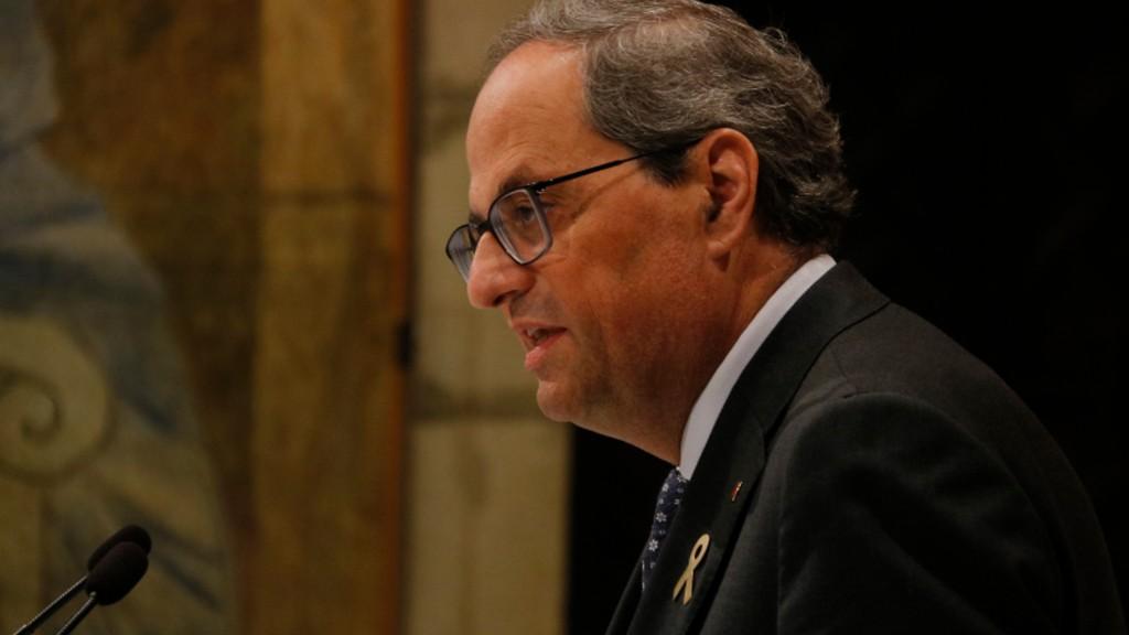 declaració institucional Quim Torra Generalitat