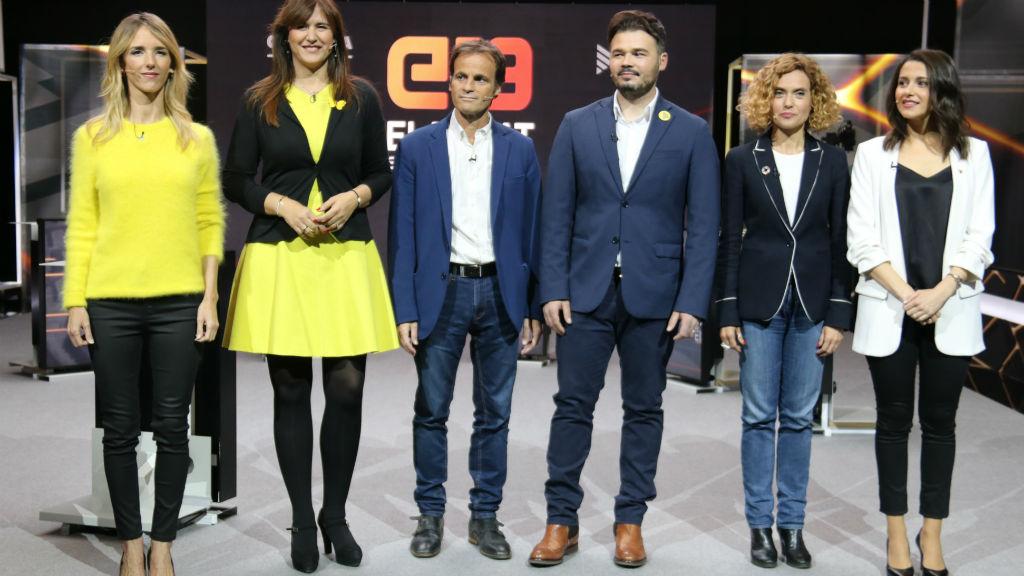 Els candidats per Barcelona al debat de TV3