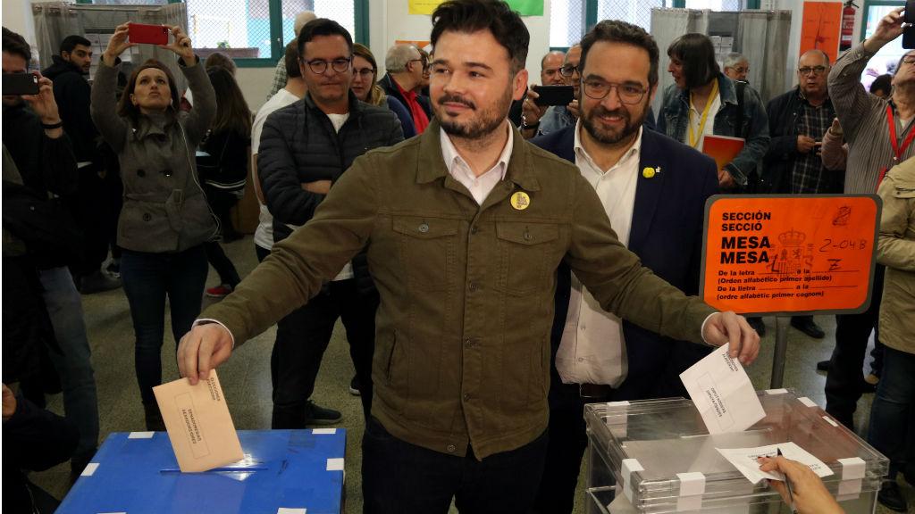 Gabriel Rufian votant el 28A