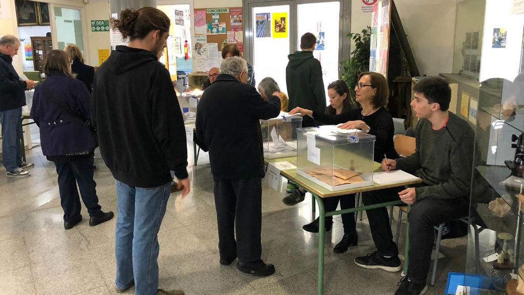 Jornada electoral al Jaume Balmes