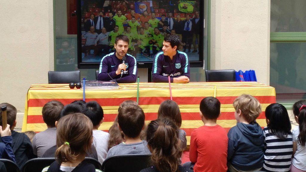 Hoquei patins a les escoles Barça