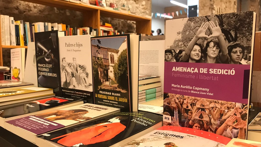 Llibres als prestatge d'una llibreria
