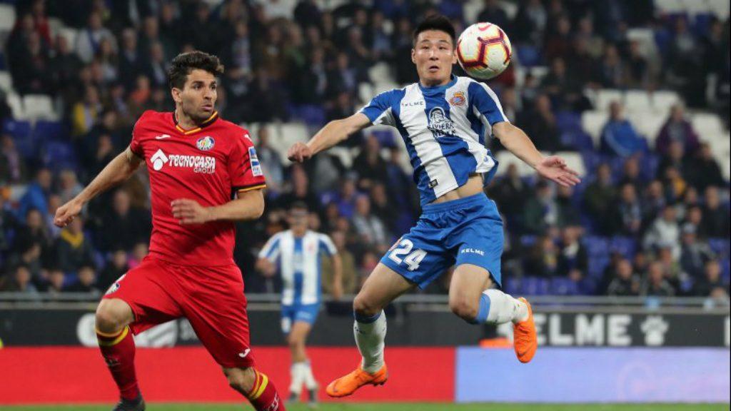 lluitar per Europa Espanyol Getafe Wu Lei