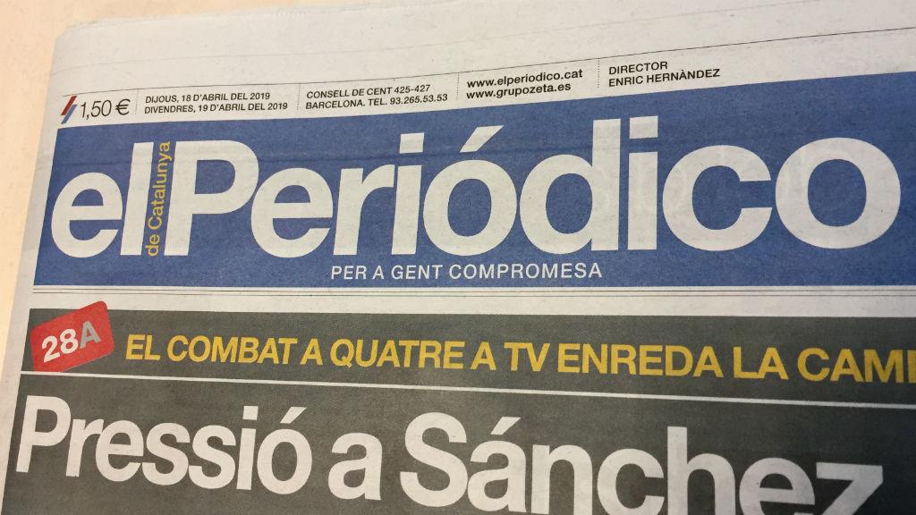 capçalera de 'El Periódico'