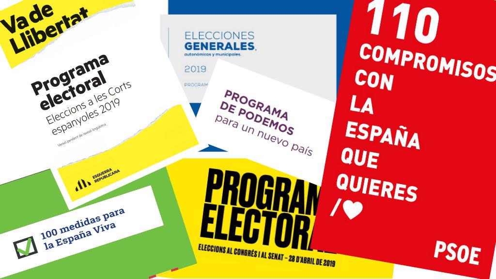 programes electorals eleccions generals 2019