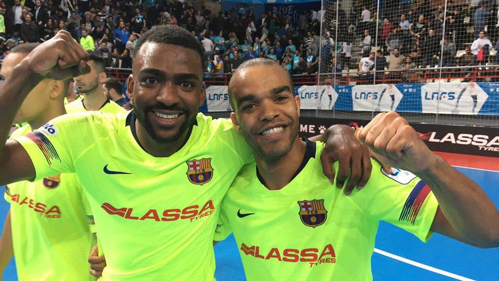 Triomf clau Inter Movistar Barça futbo sala Arthur i Leo Santana