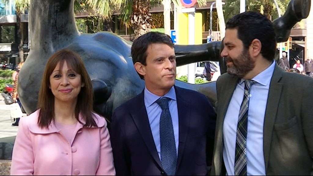 Marilén Barceló, Manuel Valls i Paco Sierra