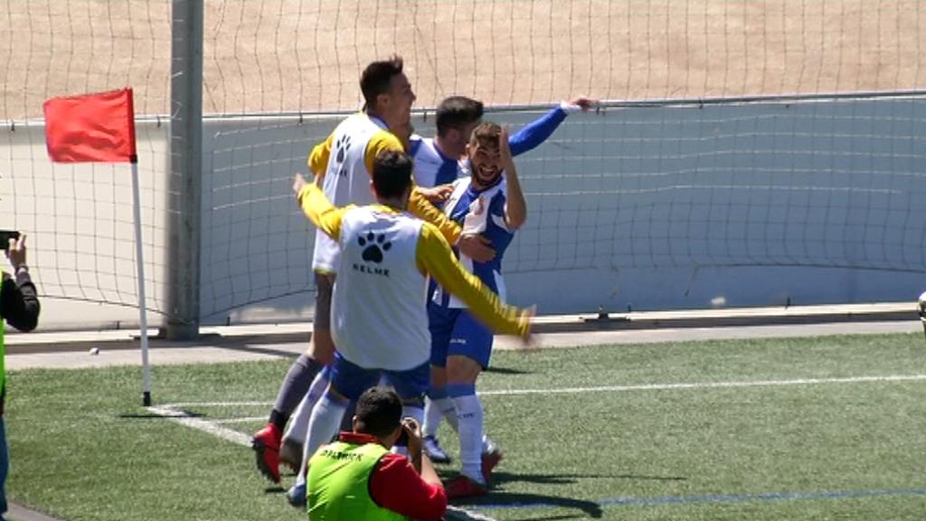Celebració gol RCD Espanyol B