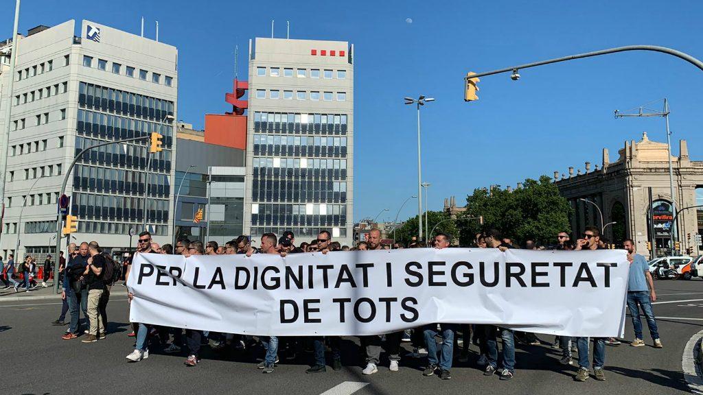 Concentració Sindicat Mossos d'Esquadra Plaça Espanya