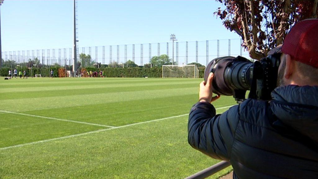 Entrenament Barça Champions femenina