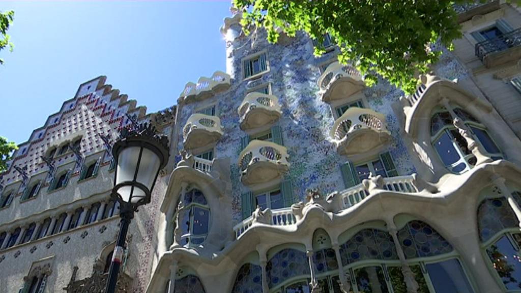 Façana de la casa Batlló restaurada