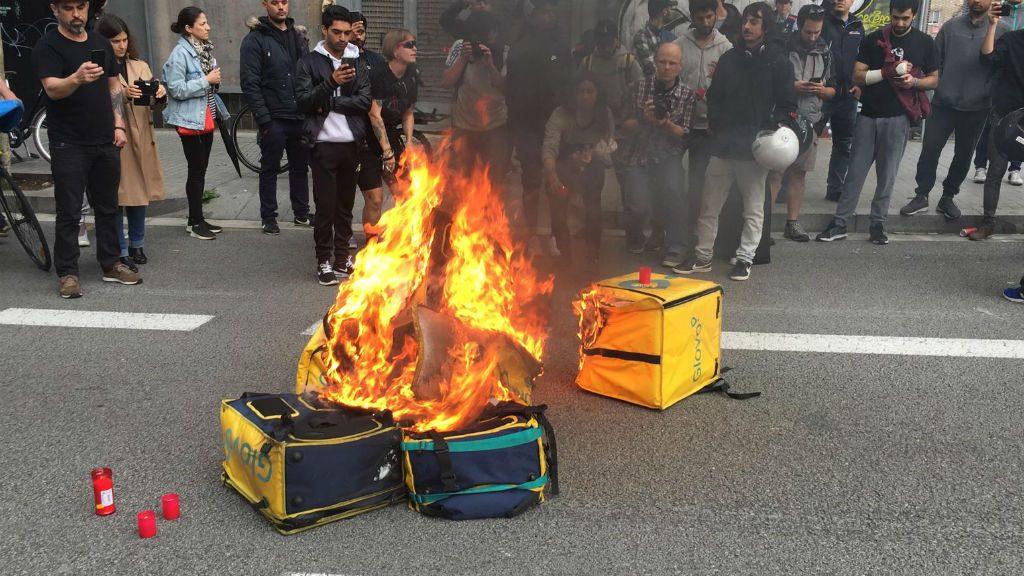 Protesta Glovo