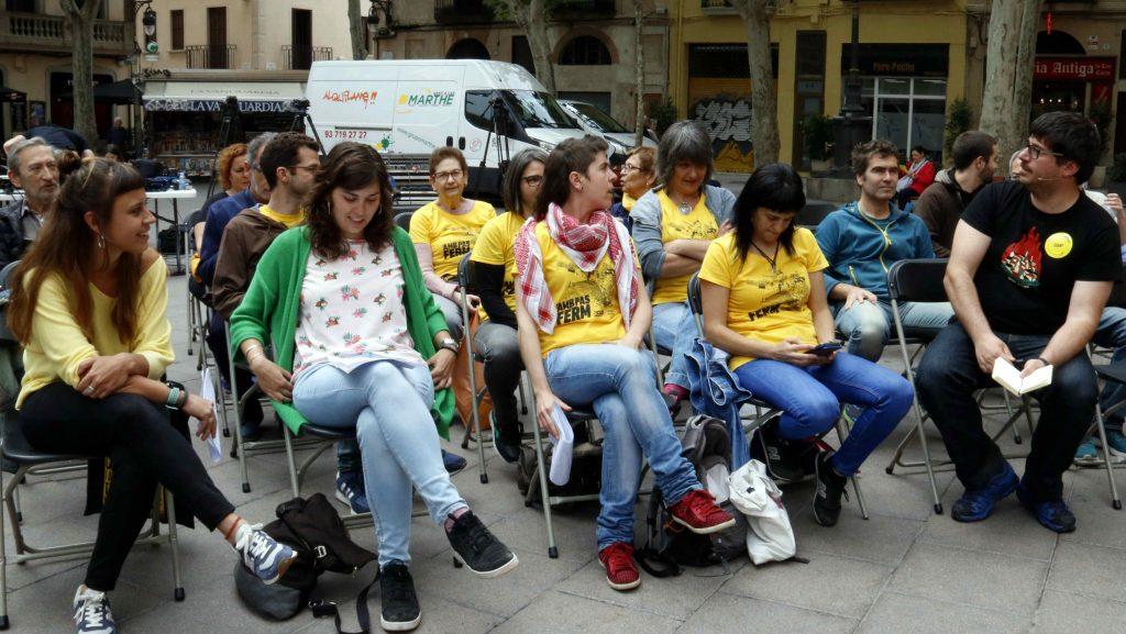 Acte de campanya de la CUP a la plaça de la Concòrdia
