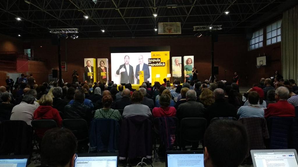 Acte final de campanya d'Esquerra Republicana de Catalunya