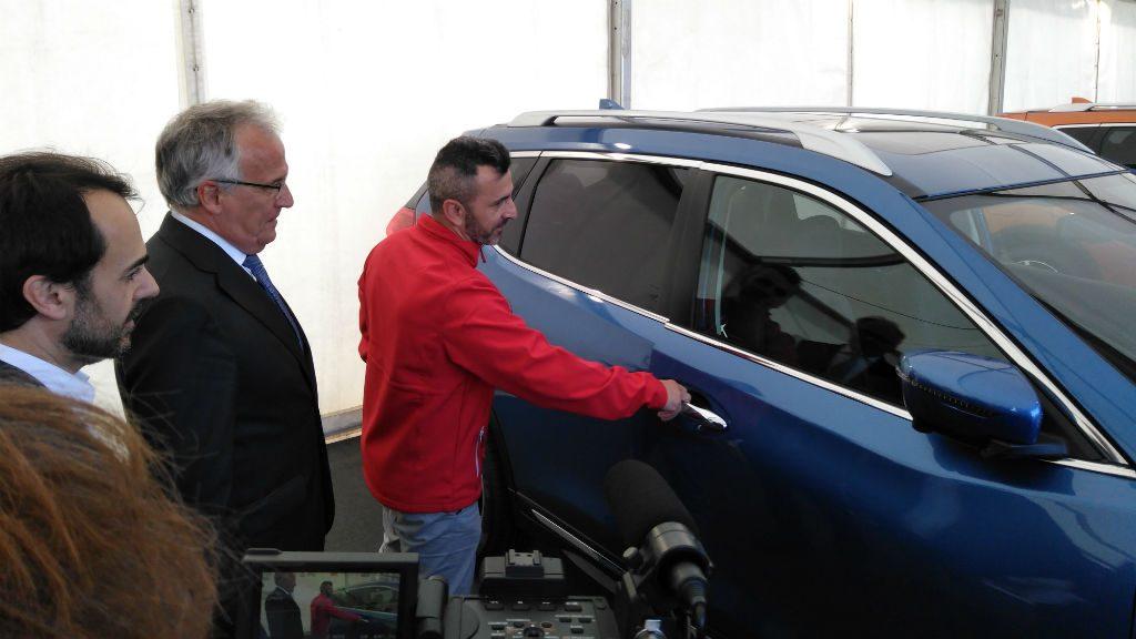 Josep Bou al Saló de l'Automòbil
