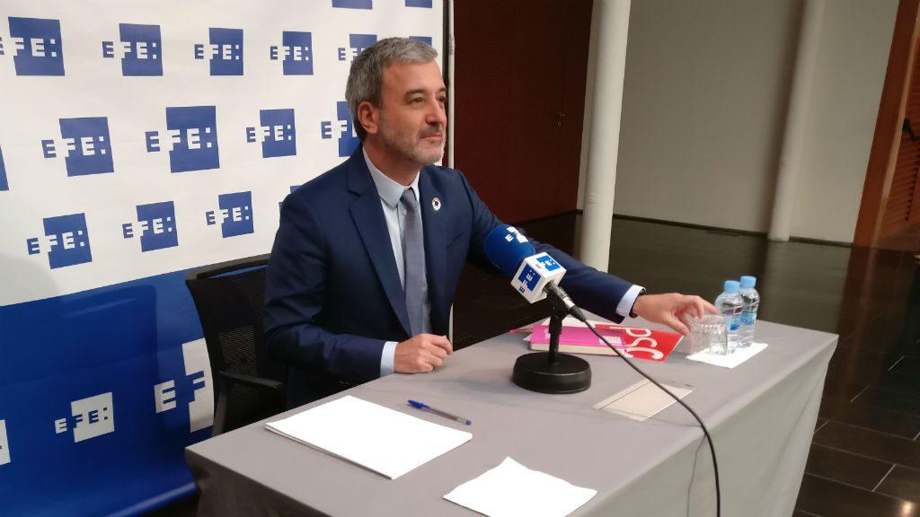 Jaume Collboni a l'Agència EFE
