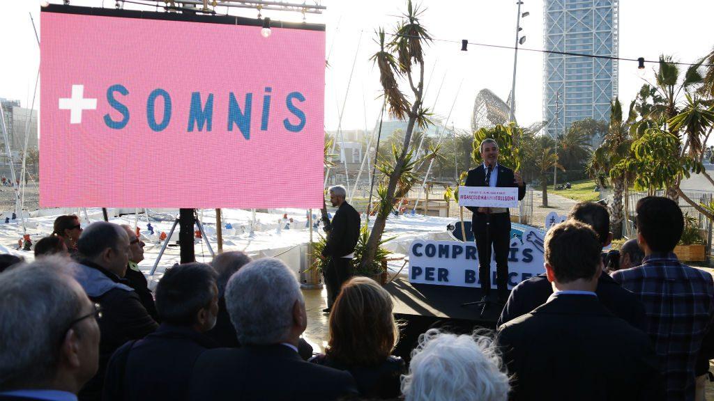 Collboni a la festa de Compromís per Barcelona