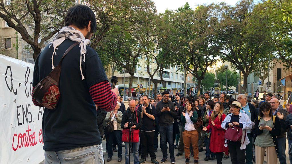 Concentració de la CUP contra el feixisme a la plaça d'Artós