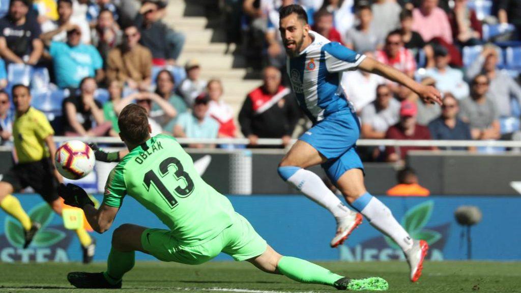 Borja Iglesias, golejador de l'Espanyol - Atlètic de Madrid