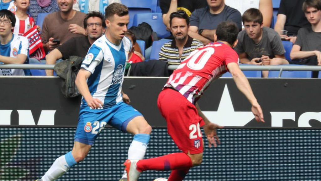 Pedrosa, autor del primer gol del RCD Espanyol