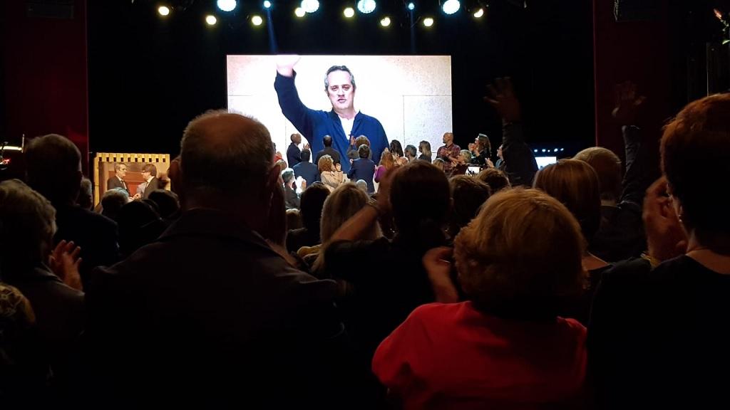 Joaquim Forn ha participat en l'acte per videoconferència