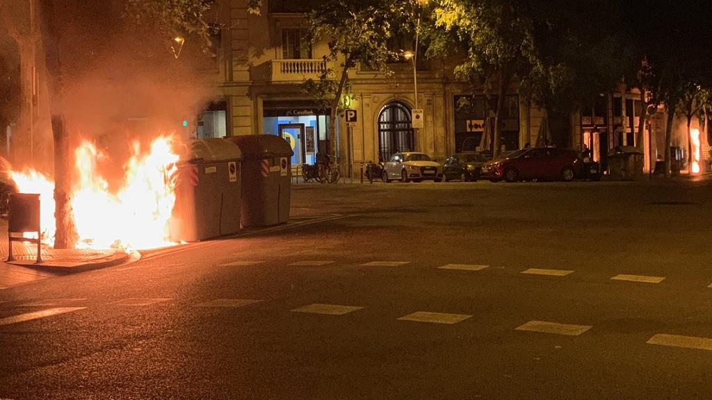 incendi Eixample moto