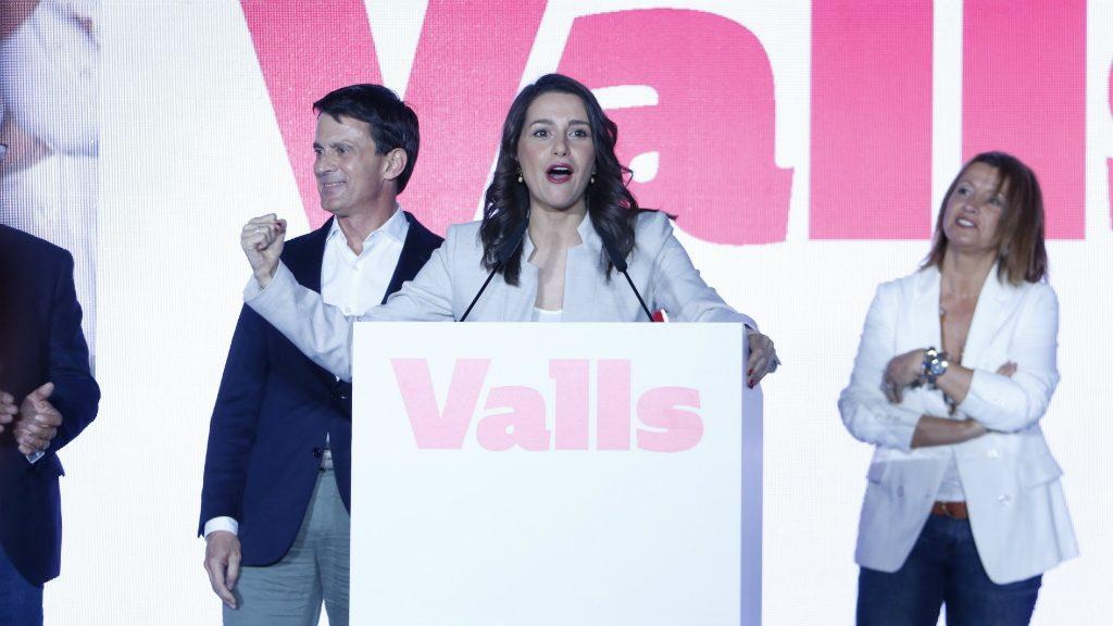 Inés Arrimadas a l'acte de Manuel Valls