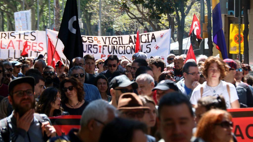 Manifestació de la CGT